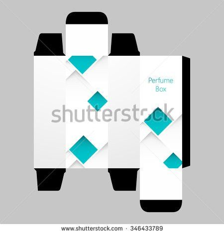 Perfume Box Template Design Vector Stock Vector 346433789 ...