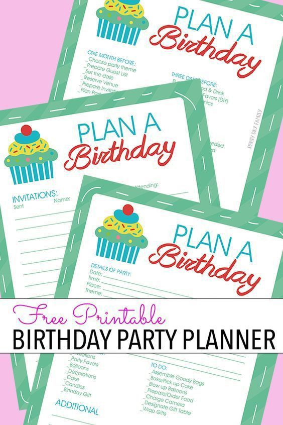 The 25+ best Birthday party checklist ideas on Pinterest | Baby ...