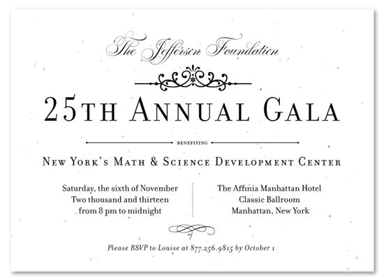 Formal Gala Invitations ~ Very VIP | Gala invitation and Corporate ...