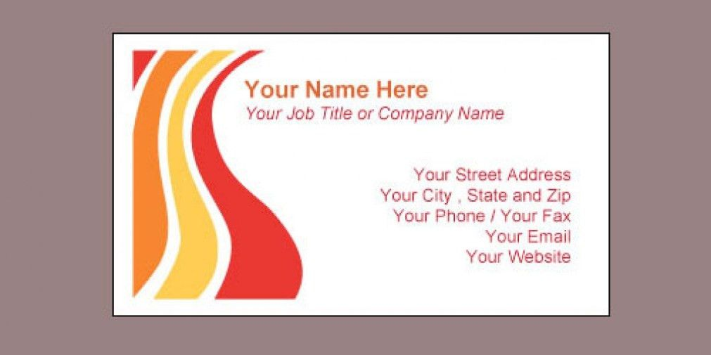 word business card template free