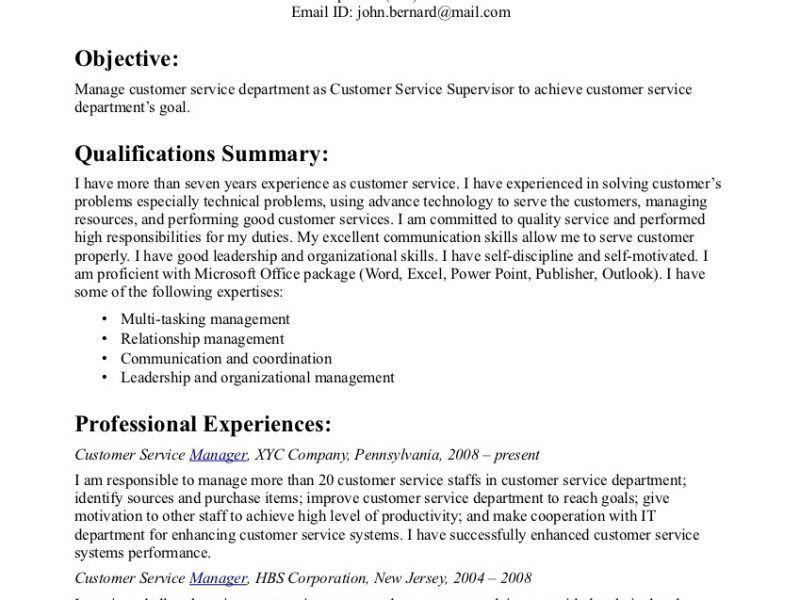 Pleasurable Ideas Customer Service Resume Objective 10 Pretty ...