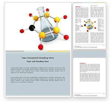 Organic Chemistry Word Template 04773 | PoweredTemplate.com