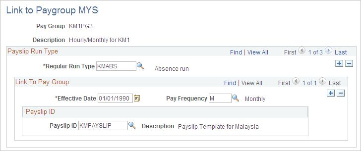 Attaching Payslip Templates to Pay Groups