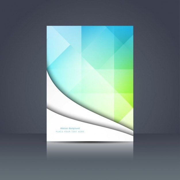 Colorful polygonal brochure design Vector | Free Download