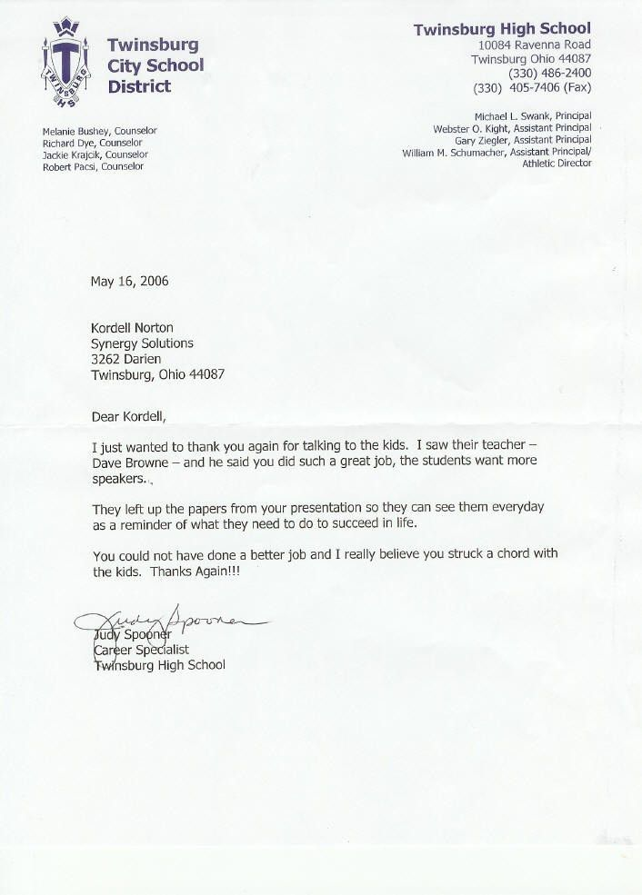 Sample Reference Letter For High School Student College - Cover ...