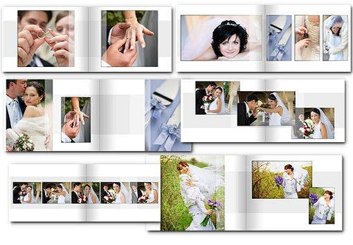 14x11 Wedding Album Templates | arc4Studio