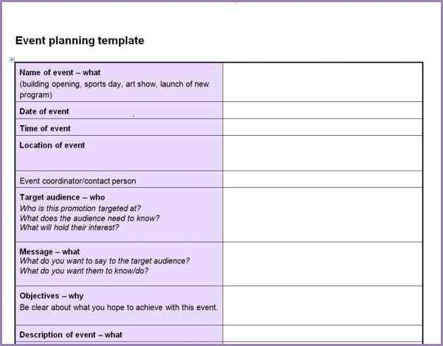 EVENT PLANNING CHECKLIST TEMPLATE | Samplenotary.cam