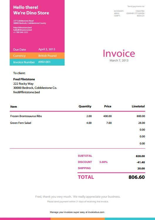 9 best Invoices images on Pinterest | Invoice design, Invoice ...