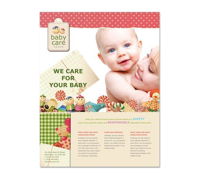 Babysitting Flyer Template - dLayouts Graphic Design Blog