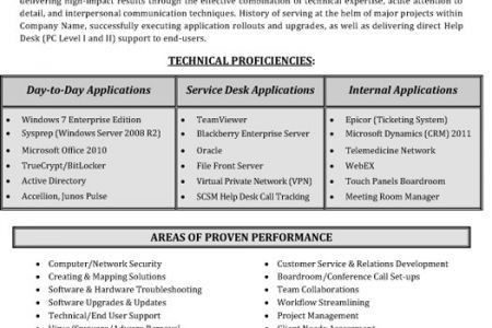 Support Analyst Resume - Reentrycorps