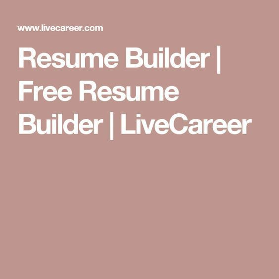 free resume builder and save