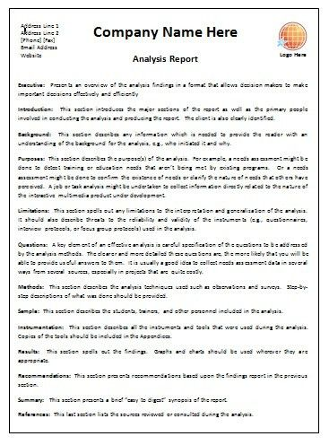 Business Report Template | business letter template