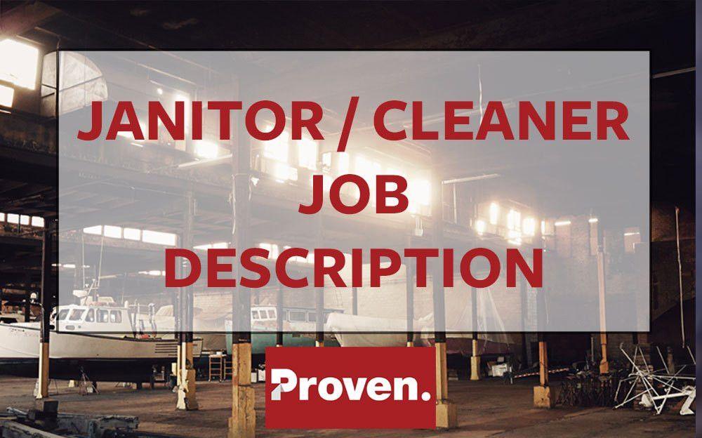 The Perfect Janitor Job Description