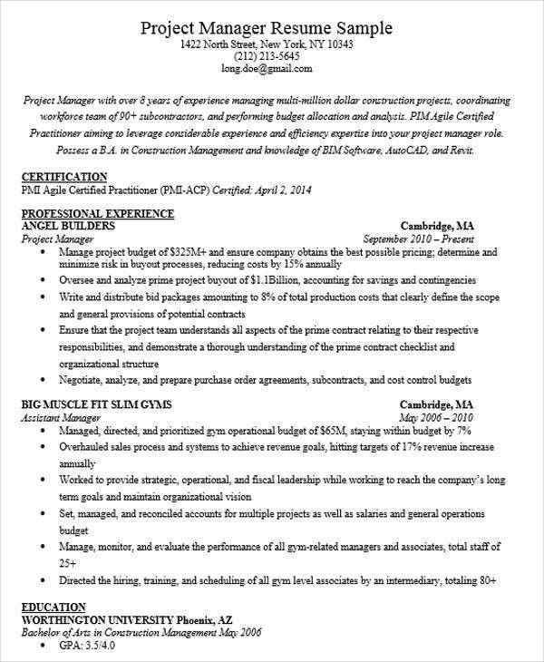 Beautiful Gym Manager Resume Photos - Best Resume Examples for ...