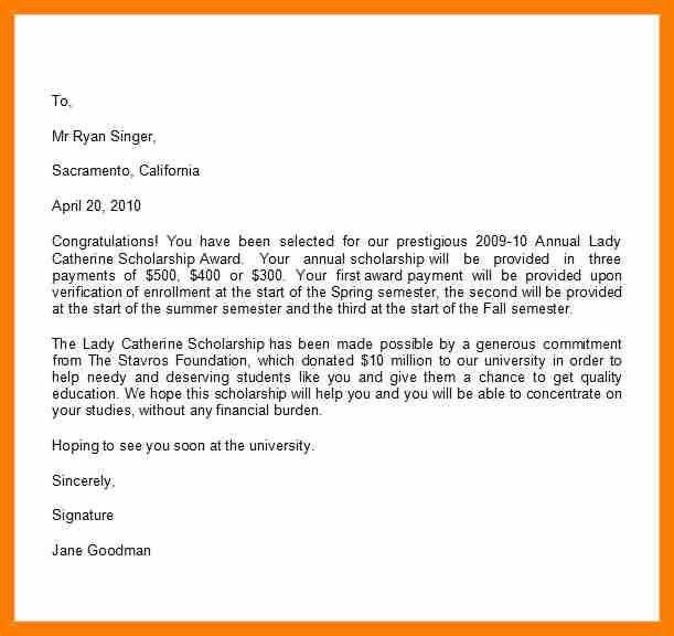 3+ scholarship award letter | hostess resume