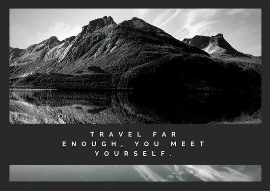 Monochrome Mountain Landscape Photo Travel Postcard - Templates by ...