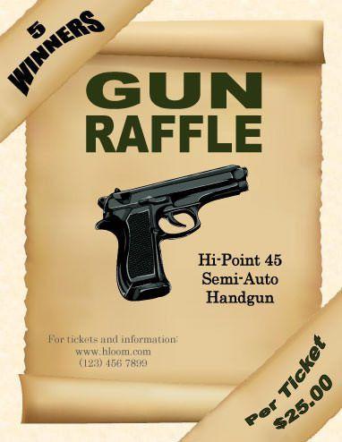 Gun Raffle Flyer Template | Raffle Flyer and Ticket Templates ...