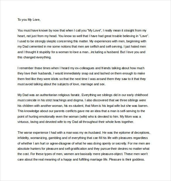 12+ Love Letter Templates to My Husband – Free Sample, Example ...
