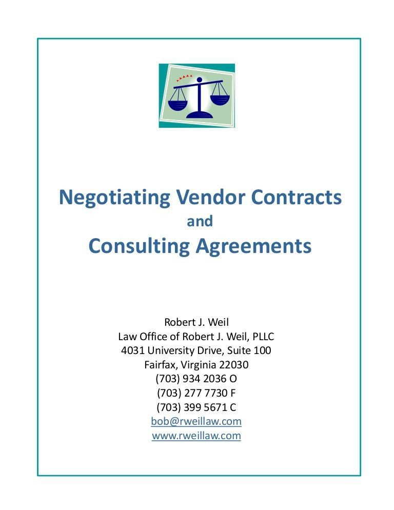 Vendor Contract Agreement. Supply Chain Management Consignment ...