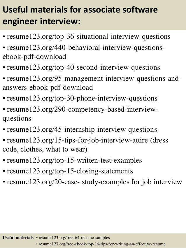 Top 8 associate software engineer resume samples