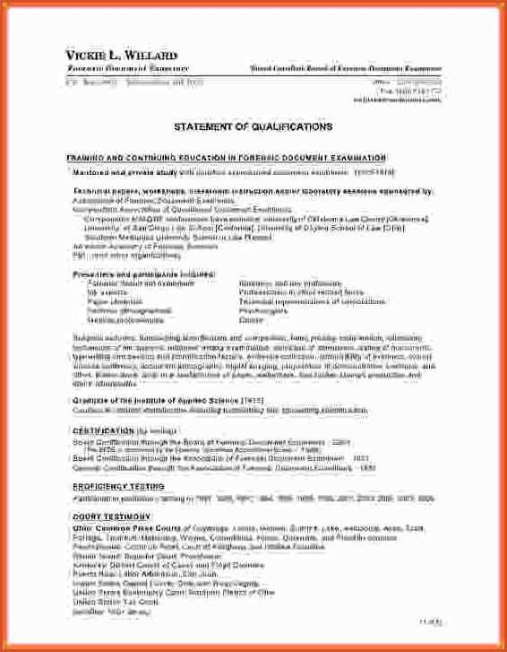 STATEMENT OF QUALIFICATIONS TEMPLATE.statement Of Qualifications ...