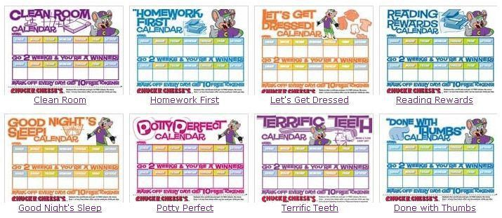Rewards Calendars: 10 FREE Tokens at Chuckie Cheese - Kids ...