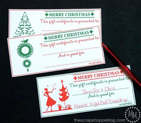 Christmas Gift Certificates - Design Dazzle