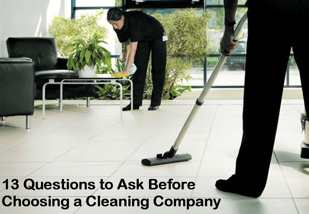 13 Questions To Ask Before Choosing A Cleaning Company - Eco Brite ...