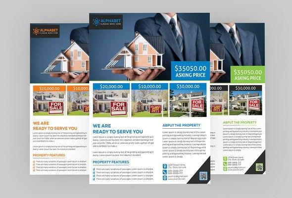 Real Estate Flyer PSD Template Free Download - Coding Bank