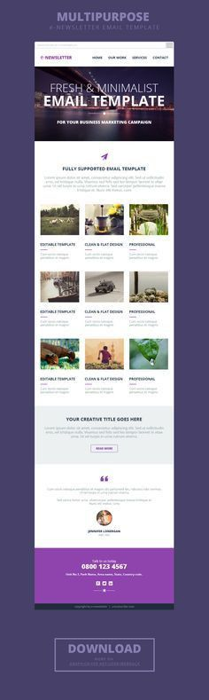 Newsletter Email #Template | Freebies | Pinterest | Email design ...