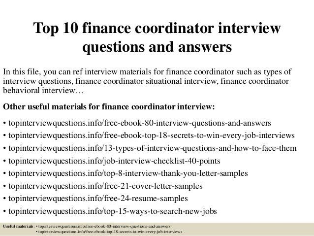 6e372ef2eedbd9d135848f4f991176d8 finance coordinator] financial coordinator job description, top 10 wiring harness design interview questions at reclaimingppi.co
