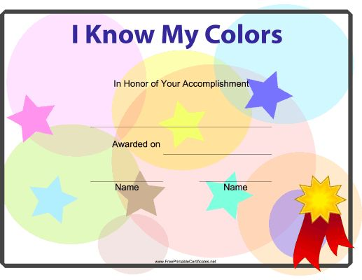 With this printable certificate, preschoolers can celebrate the ...