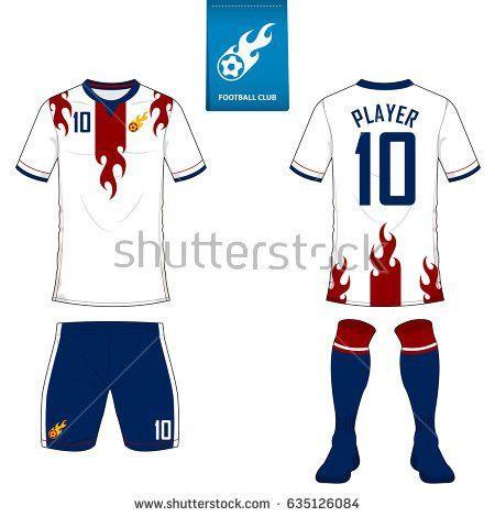 Set Soccer Jersey Football Kit Template Stock Vector 577817839 ...