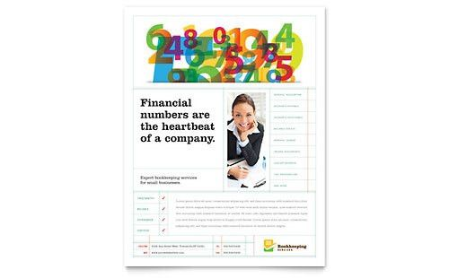 Accounting & Bookkeeping | Flyer Templates | Financial Services