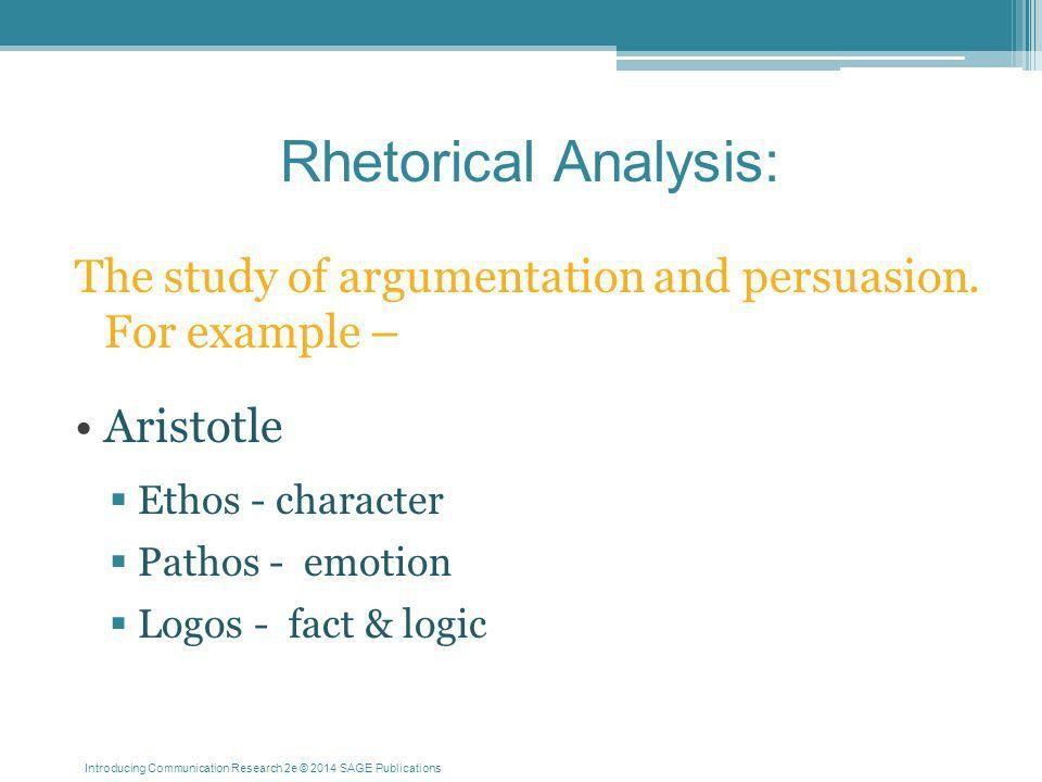 Chapter Thirteen Rhetorical and Critical Analyses: Understanding ...
