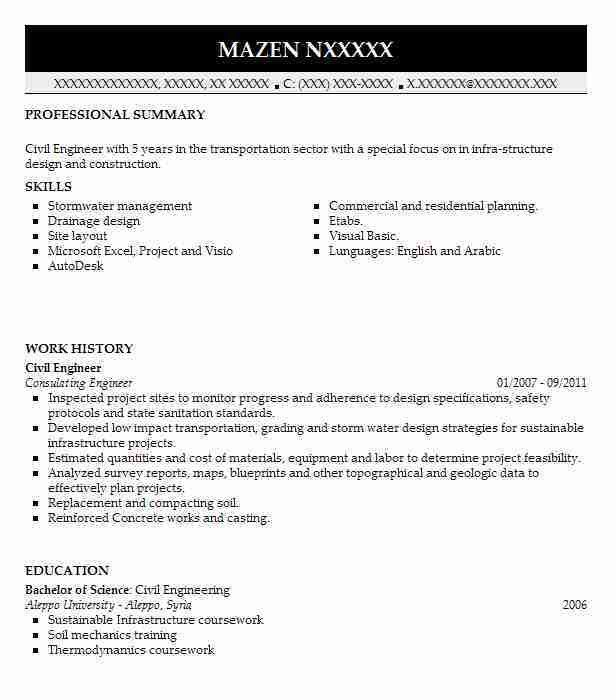 Best Civil Engineer Resume Example | LiveCareer