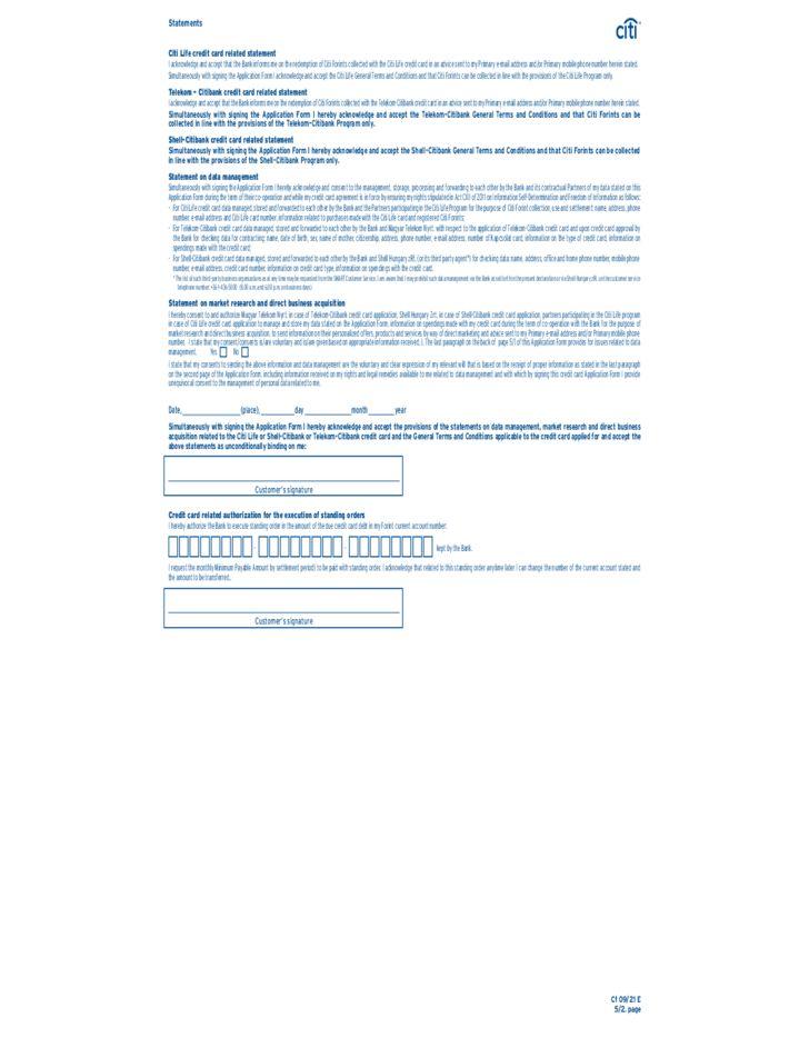 Citibank Credit Card Application Form Sample Free Download