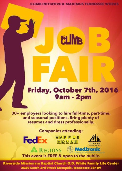 Climb Job Fair – 10/7/16 | Job & Career News from the Memphis ...