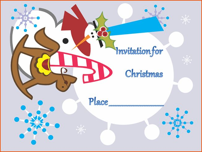 7+ christmas invitation template - bookletemplate.org