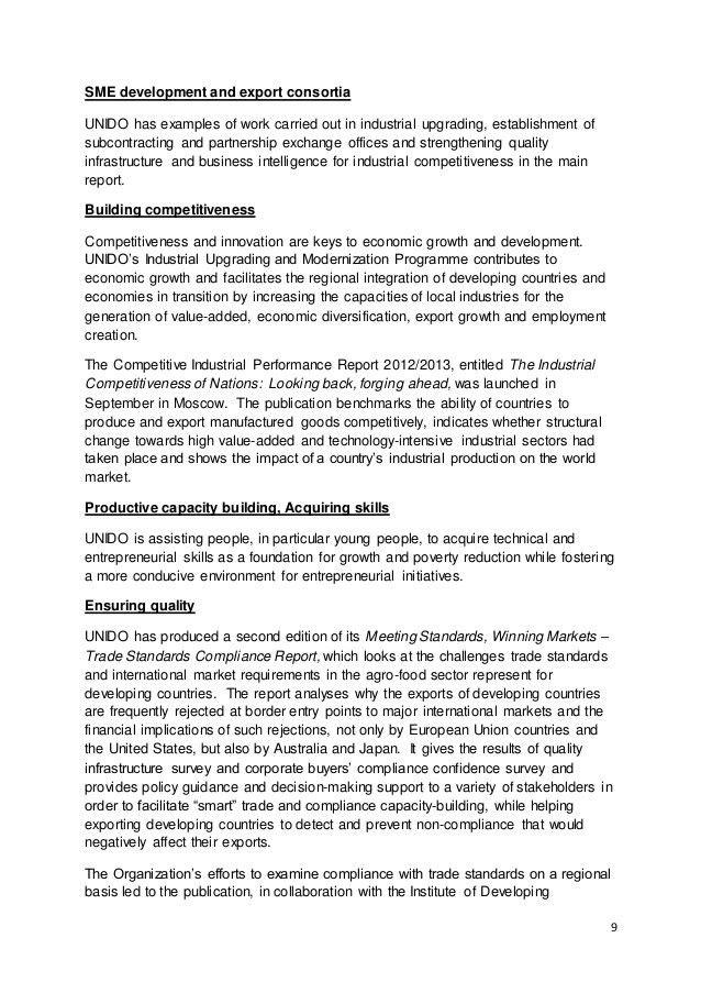 Executive Summary - UNIDO Annual Report 2013
