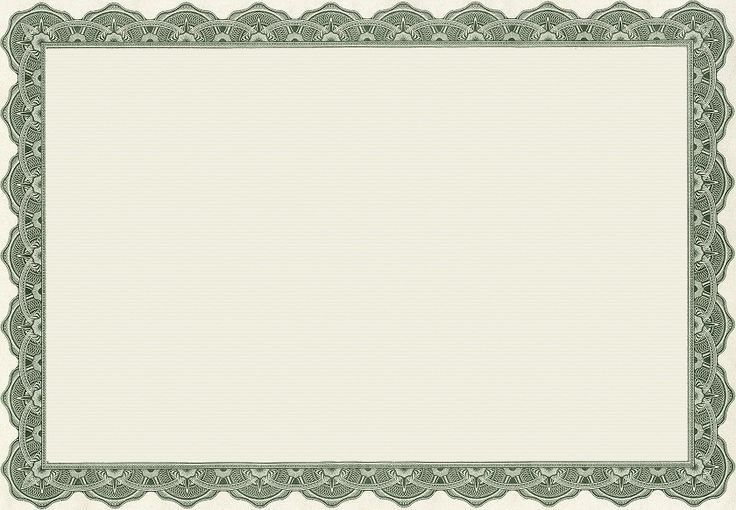 yellow certificate border template
