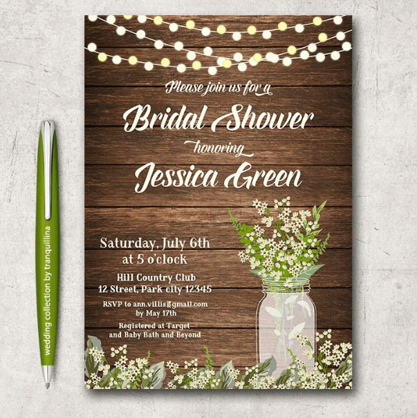 14 Printable Bridal Shower Invitations Examples | Templates Assistant