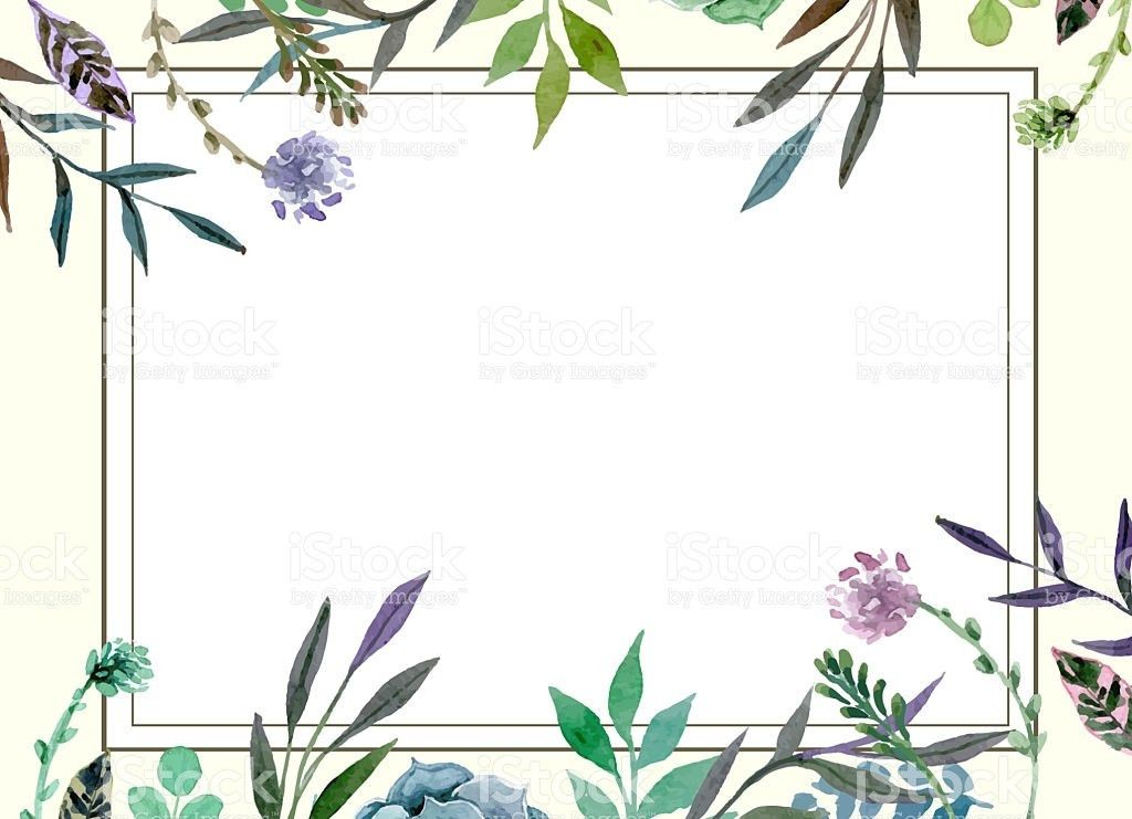 Floral Border Wedding Invitation Card Template stock photo ...