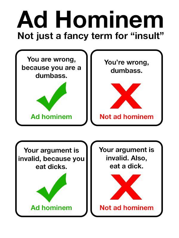 Argumentum ad hominem – logical fallacies