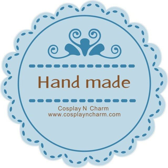 whole sale(2000pcs/lot) free shipping handmade sticker round logo ...