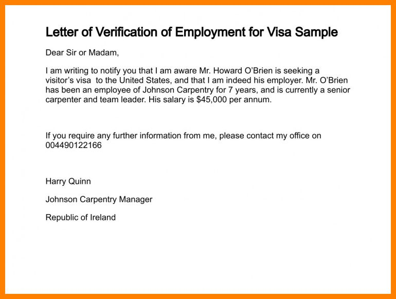 11+ employment verification letter for visa | assembly resume