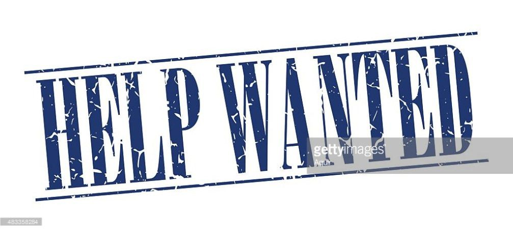 Help Wanted Blue Grunge Vintage Stamp Isolated On White Background ...