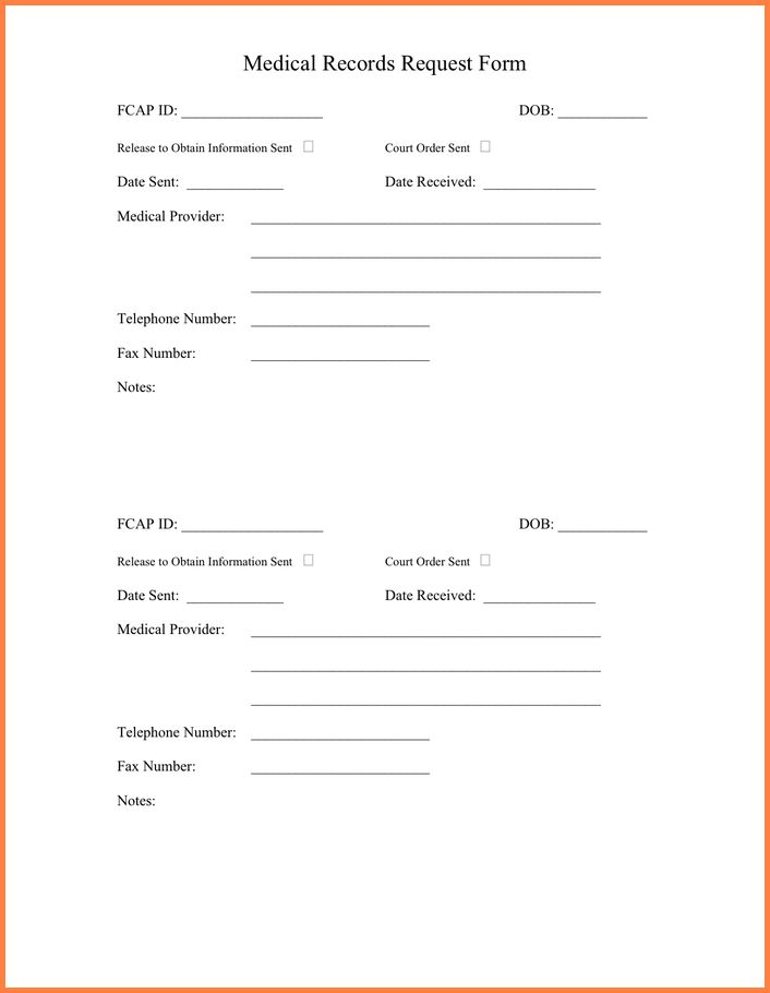 Stunning Medical Records Request Form Images - Best Resume ...