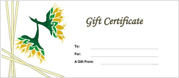 Printable Gift Certificate. Free Printable And Editable Gift ...
