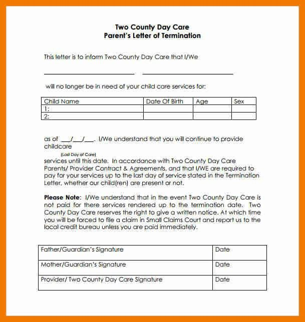 9+ daycare contract templates | resume holder